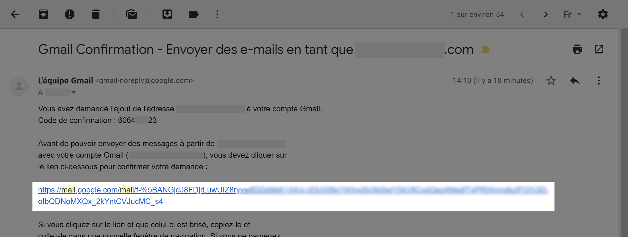 Ouvrez le mail de confirmation - Mis en avant