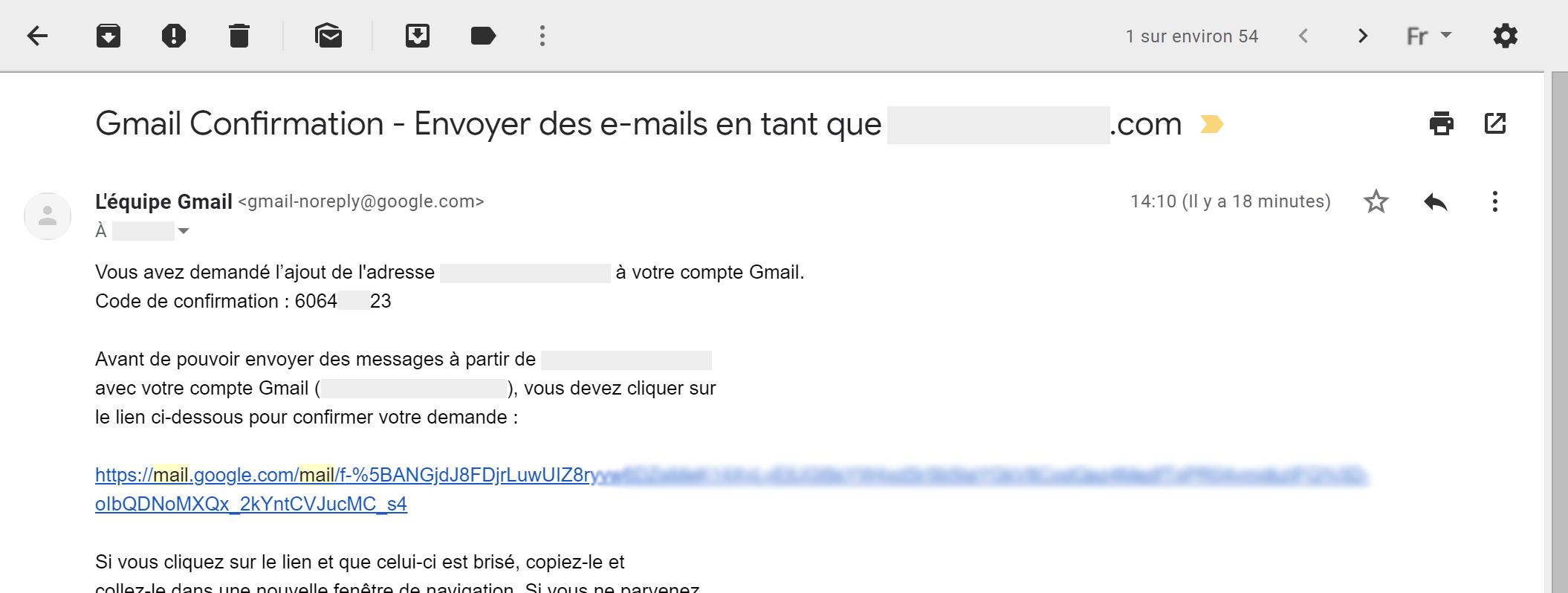 Ouvrez le mail de confirmation